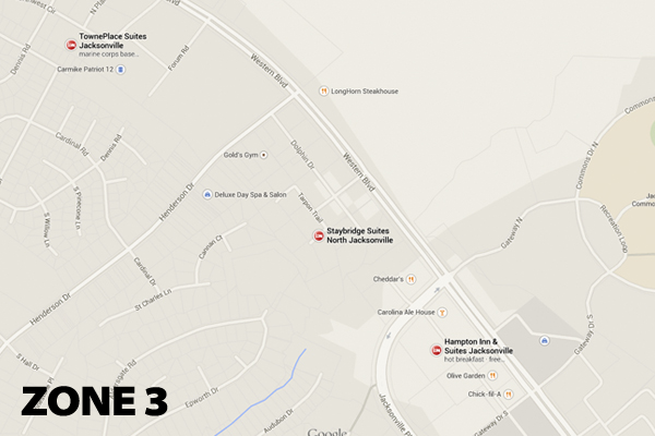 Zone 3 Hotel Map